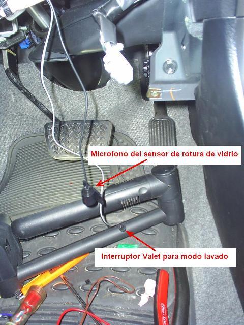 Instalacion de la alarma hornet 727t for Instalacion de alarmas